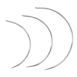 3 Pieces Metal Circular Curved Needles for Furniture Sofa Upholstery Sewing
