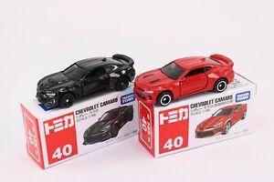 Takara Tomy TOMICA No.40 Chevrolet Camaro 1st Scale 1/66 2X SET Diecast Toy Car