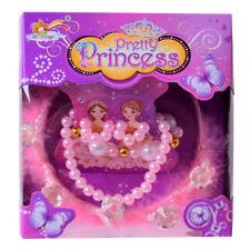 princesse couronne diadème avec perles chaîne rose Coffret carnaval conte de fée