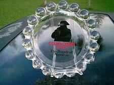 "COURVOISIER COGNAC THE BRANDY OF NAPOLEON  LOGO  7.5"" GLASS ASHTRAY COLLECTIBLE"