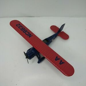 ERTL Stearman 4D Biplane American Airlines Blue and Red