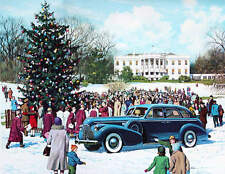 Christmas Tree at the Whitehouse 1940 Buick gathering