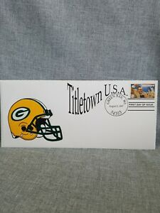 Green Bay Packers 1997 Titletown USA envelope with Vince Lombardi 32 cent stamp