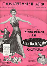 """LET'S DO IT AGAIN Sheet Music """"It Was Great While It Lasted"""" Jane Wyman Aldo Ray"""