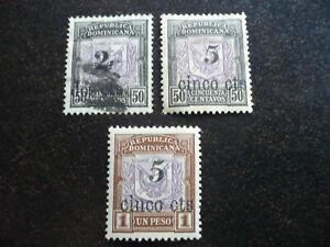 Stamps - Dominican Republic - Scott# 151, 153, 154