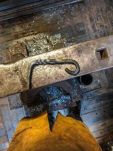 Blacksmith Made Hanging Bird Feeder Bracket Forged Bracket (short)