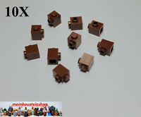 10X Lego 87087 Basic Steine Konverter 1X1 m. 1 seitl. Noppen Rotbraun Brown NEU