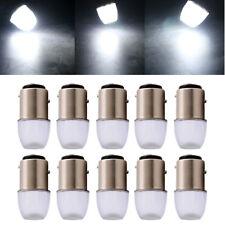 10Pcs White P21W 1016 LED Bulbs 1157 BAY15D 1.5W Lens Turn Signal Lights 12V