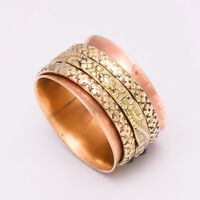Solid Copper Brass Spinner Ring Jewelry Meditation ring statement All Size AS-12