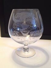 1964 NY World's Fair Unisphere Commemorative Brandy Snifter (8 inches tall)