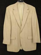 BASKIN Vintage Linen Look Blazer Natural Beige Men's Two Button Suit Jacket