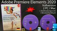 Adobe Premiere Elements 2020 VERSIONE COMPLETA BOX + DVD 2 WIN/MAC + istruzioni nuovo OVP