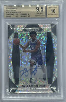 ROOKIE! 2017-18 Prizm Basketball De'aaron Fox RC Auto FASTBREAK BGS 9.5/10