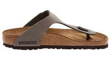 Birkenstock Gizeh Birkoflor Nubuck -look Womens Shoes Slides Sandals Footbed Stone EU 40 - UK L7 Regular