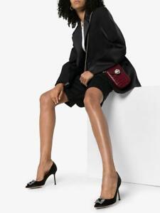 $1245 Designer MANOLO BLAHNIK Women's Hangisi 70 Satin Buckle-Detail Pumps 36