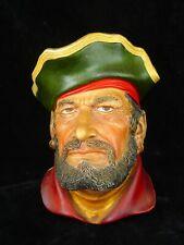 Vintage Captain Morgan Legend Chalk Ware Chalkware Head Good Condition England