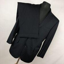Brooks Brothers Brooksease 39S 39 Short 36x27 Suit Jacket Pants Navy Blue Stripe