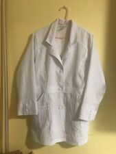 "Women's WonderWink Medical Scrub 4-stretch Collection White 32"" Lab Coat Sz M"