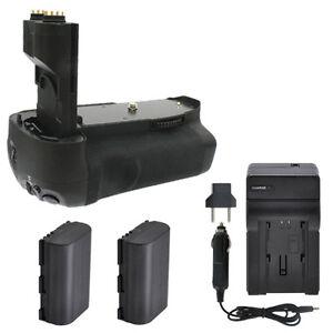 BG-E7 Battery Grip + 2 LP-E6 Battery Packs + Charger For Canon 7D Camera