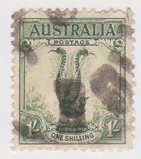 (W114) 1932 AU 1/- green lyre bird (H)
