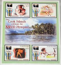 Cook Islands 1992 Unlisted klb MS Olympics barcelona running Ancient Art Archer