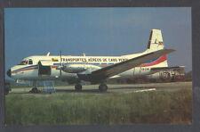 TACV Transportes Aereos de Cabo Verde Airlines CR-CAW BAe748 Postcard