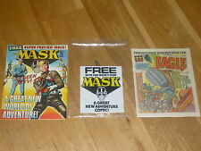 """EAGLE Comic - No 240 - Date 25/10/1986 - With """"MASK Comic"""" FREE GIFT"""
