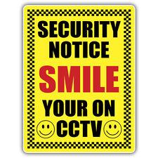 1x sonrisa Tu en Cctv pegatina 210 x 148 mm advertencia de seguridad de la calcomanía