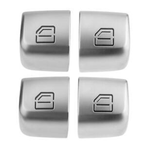 4pcs/set Master Window Switch Repair Button Caps for Mercedes Benz C Class