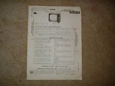 Toshiba Models C7A C8A Color Tv Photofact Folder 1971 2-71 Vintage
