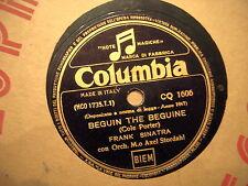 "78 GIRI FRANK SINATRA  "" LA VOCE "" CANTA  ALL THROUGH THE DAY BEGUIN THE BEGUINE"