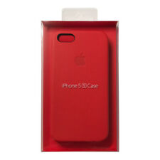 Apple Original iPhone 5 / 5s / SE (PRODUCT) RED Leather Case (MF046) in Package