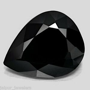 Black Spinel cabochon 25 pcs lot AAA 100/% natural Black Spinel pear cabochon loose gemstone for jewelry