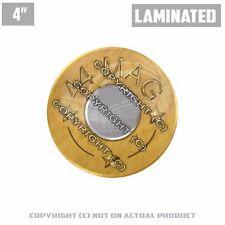 "1 Custom Thick Laminated Glossy 4"" 3M Premium Decal Sticker BRASS 44 MAG PRINT"