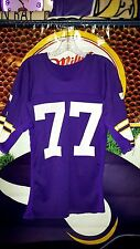 MARK MULLANEY #77 MINNESOTA VIKINGS GAME USED HOME PURPLE JERSEY 1970's