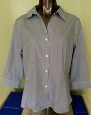 Jones New York Button Down Blue Stripe Wrinkle Free - Non Iron Shirt Sz XL