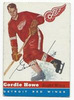 1954-55 Topps vintage hockey card #8 Gordie Howe, Detroit Red Wings VGEX+ ROOKIE