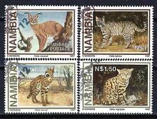 Animaux Félins Namibie (158) série complète 4 timbres oblitérés