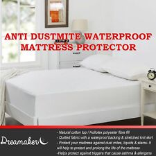 100% Waterproof Quilted Anti Dust Mite Bacterial Fitted Mattress Protector Cover