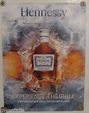 New Lot of 2 Store Display Paper Posters HENNESSY Chill Activated Flasks