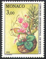 Mónaco 1991 Cyclamen/Pino/Cono de abeto/Flores/Plantas/Naturaleza/concurso 1v (n41522)