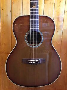Takamine TF77PT OM Legacy Series Koa Acoustic-Electric Guitar - Light Burst