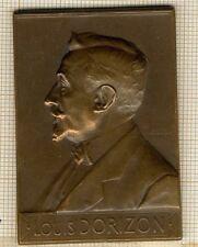 PLAQUETTE LOUIS DORIZON, La Société Générale à  son Directeur  1910 par Vernon
