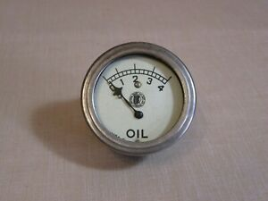 VINTAGE MOTORCYCLE INDIAN HEAD OIL PRESSURE GAUGE - MODEL A FORD - OLD SPEEDSTER