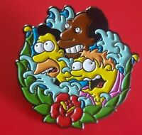 Simpsons Pin Sirens of Homer Carl Lenny Barney Enamel Metal Brooch Badge Lapel