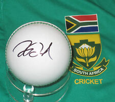Faf du Plessis (South Africa)  signed white cricket ball +COA & Photo Proof