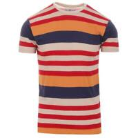 NEW MADCAP ENGLAND MOD RETRO 60s 70s MENS MILNE STRIPE TEE WHITE//BLACK MC314