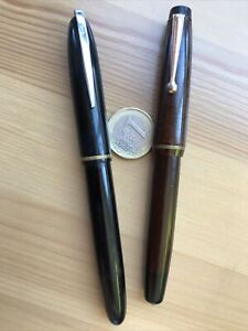 2 Stylos Plume Waterman's Gif Et Anonyme Plume Inox Ristyl 96