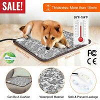 Waterproof Pet Electric Heating Mat Cushion Heated Pad Bed Puppy Dog Cat Warmer