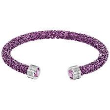 SWAROVSKI 5278499 Crystaldust Heart Cuff, Purple, M NEW 100% AUTHENTIC